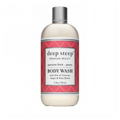 Body Wash Passion Fruit Guava 17 OZ by Deep Steep