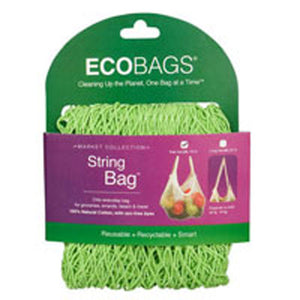 String Bag Tote Handle Natural Cotton Sage 1 BAG by Eco Bags
