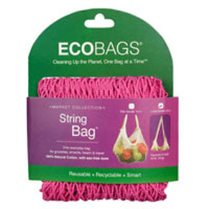 String Bag Long Handle Natural Cotton Washed Blue 1 BAG by Eco Bags