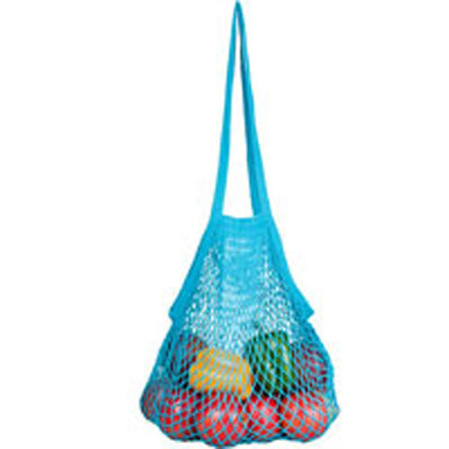 String Bags Assorted Tropicals Long Handle Natural Cotton 10 BAG by Eco Bags