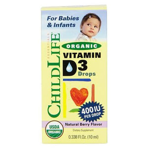 Organic Vitamin D3 for Babies and Infants - 10 ml