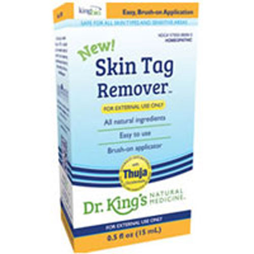 Skin Tag Remover 0.5 oz by King Bio Natural Medicines Homeopathic All Natural Ingredients Easy to Use Brush-on Applicator Naturally Anti-Bacterial* Safe to Use Directly on Skin* For External Use Only