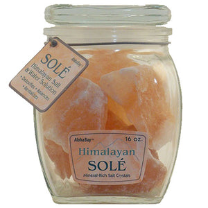 Himalayan Sole Salt Chunks in Jar - Each