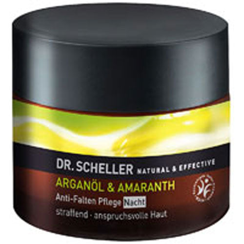 Argan Oil and Amaranth Anti Wrinkle Night Care 1.7 Oz by Dr. Scheller