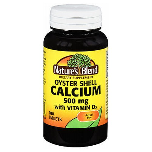 Nature's Oyster Shell Calcium Plus D3 Tablets 100 Tabs by Natures Blend Dietary Supplement