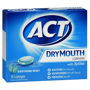 ACT Dry Mouth Lozenges - Mint 18 Each