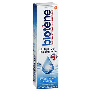 Biotene Dry Mouth Fluoride Toothpaste Fresh Mint Original 4.3 oz by Biotene