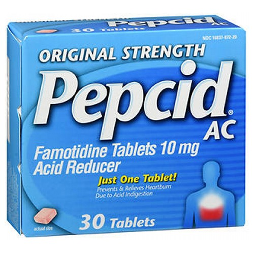 Pepcid Acid Reducer Tablets Original Strength 30 Tabs by Pepcid Pepcid Acid Reducer Tablets Original Strength 30 Tabs by Pepcid