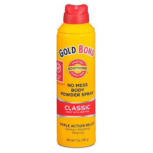 Gold Bond No Mess Powder Spray Classic Scent With Menthol 7 oz by Gold Bond