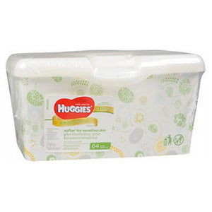 Huggies Natural Care Wipes Tub - Fragrance Free 64 Each