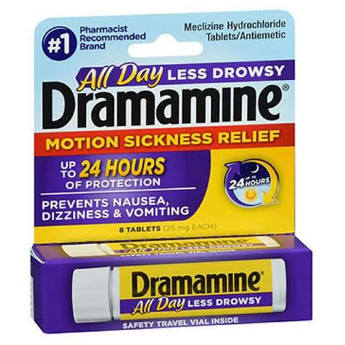 Dramamine Tablets Less Drowsy Formula 8 Tabs by Med Tech Products Dramamine Tablets Less Drowsy Formula 8 Tabs by Med Tech Products