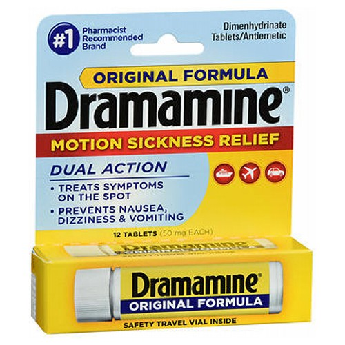 Dramamine Original Formula Motion Sickness Relief Tablets 12 Tabs by Med Tech Products Dramamine Original Formula Motion Sickness Relief Tablets 12 Tabs by Med Tech Products
