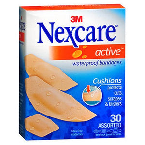 Nexcare Active Waterproof Assorted Bandages 30 Each by 3M
