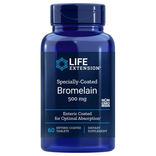 Specially-Coated Bromelain 60 Enteric Coated Tablets by Life Extension Dietary Supplement For Longer Life Enteric Coated for Optimal Absorption