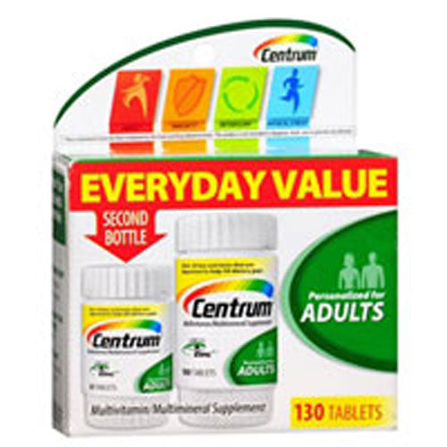 Multivitamin / Multimineral Supplement Adults 130 Tabs by Centrum Personalized For Adults