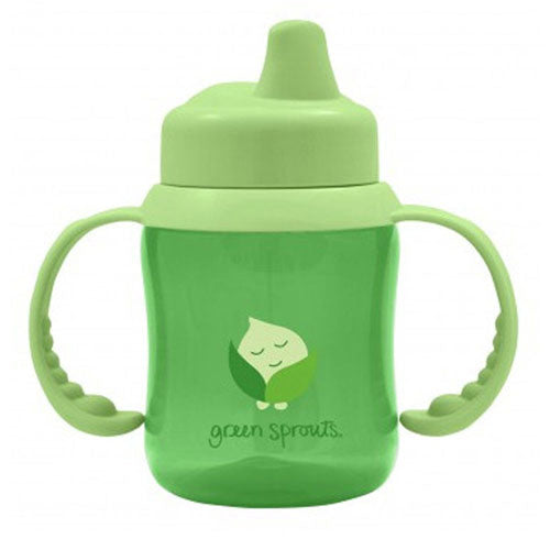 Non-Spill Sippy Cup Green 1 Ct by Green Sprouts The Non-Spill Sippy Cup Features a One-Way Valve To Help Prevent Messy Spills The Firm Spout Also Provides and Easy Transition From Sippy To Straw or Cup as Your Little One Moves on To The Next Feeding Stage Removable Handles are Sized Just Right For Little Hands and Can Be Removed Once Your Little One Feels More Comfortable Holding The Sippy Made From PVC and BPA free, Safety Tested Plastic