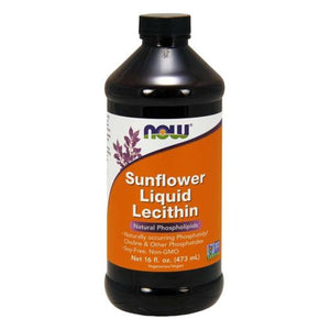Sunflower Liquid Lecithin 16 Fl Oz by Now Foods