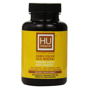 Humic/Fulvic Acid Mineral Immune Booster Raw Powder 60 Vcaps