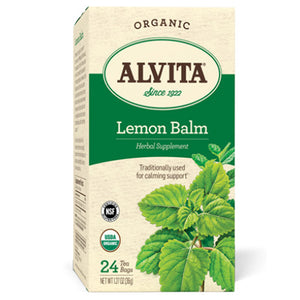 Organic Tea Lemon Balm 24 Bags by Alvita Teas