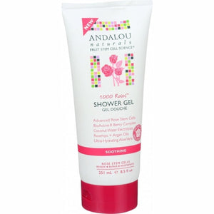 1000 Roses Soothing Shower Gel 8.5 Oz by Andalou Naturals