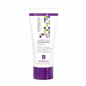 Shower Gel Refreshing Lavender Thyme 8.5 Oz by Andalou Naturals
