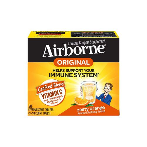 Airborne Effervescent Tablets With Vitamin C Triple Pack 3/10 Tabs by Airborne Helps Support Your Immune System* Naturally  Artificially Flavored Immune Support Supplement With Herbs, Minerals  Herbs*