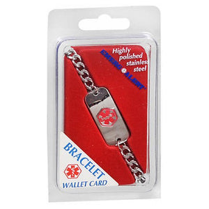 Emerg Alert Wallet Card Bracelet 1 Each