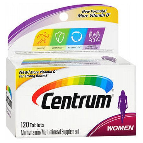 Centrum Womens Tablets 120 Tabs by Centrum Multivitamin/Multimineral Supplement New Easy To Swallow Tablets