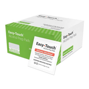 Easy Touch Alcohol Prep Pads - 100 Each