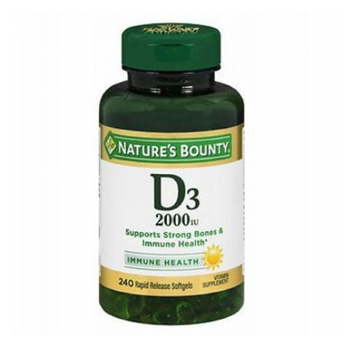 Nature's Bounty Vitamin D3 240 Softgels by Nature's Bounty Vitamin SupplementSupports Strong Bones*Immune Health*