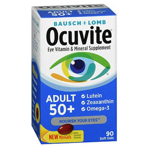 Bausch + Lomb Ocuvite Adult 50+ Eye Vitamin & Mineral 90 Softgels by Bausch And Lomb Eye Vitamin  Mineral Supplement Helps Protect Eye Health*