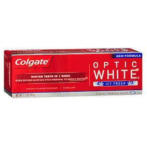 Colgate Optic White Toothpaste Icy Fresh Cool Fresh Mint - 3.5 Oz