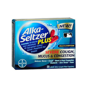 Alka-Seltzer Plus Severe Cough - Mucus & Congestion Liquid Gels 20 Each by Bayer