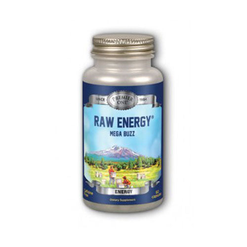 Raw Energy, Mega Buzz Timed Release - 60 Caps