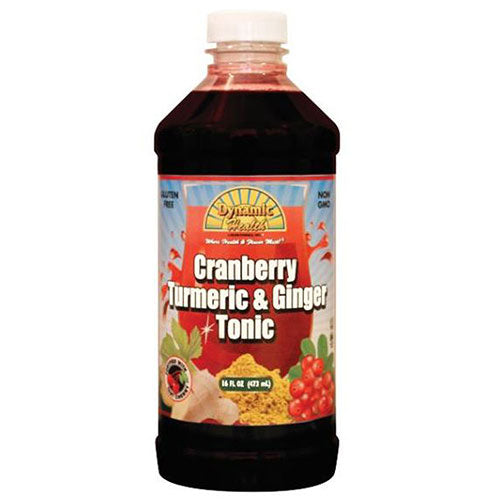 Gluten Free Tonic Cranberry Turmeric & Ginger 16 oz by Dynamic Health Laboratories
