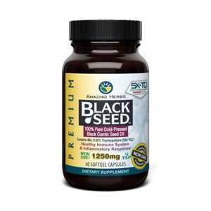 Black Seed Black Cumin Seed Oil 60 Caps by Amazing Herbs