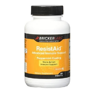 ResistAid Peppermint Coating 60 Tabs by Bricker Labs