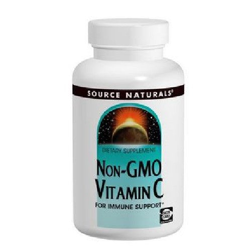 Vitamin C Non-GMO 120 Tabs by Source Naturals Source Naturals Non-GMO Vitamin C provides all of vitamin C's health benefits, including support for the immune system, collagen formation, hormone production, and iron utilization. While much of the vitamin C on the market is derived from genetically modified ingredients, Source Naturals carefully scrutinizes its sources of vitamin C to ensure it is obtained from only nongenetically modified materials.*