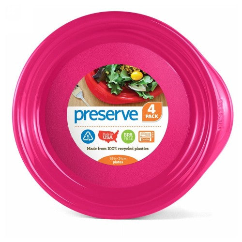 Everyday Plates Pink 4 Count by Preserve