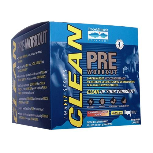 Pre Workout Raspberry Lemonade 20 Packets by Trace Minerals Pre Workout Raspberry Lemonade 20 Packets by Trace Minerals