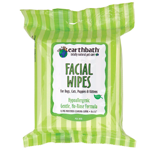 Facial Wipes for Dogs, Cats, Puppies, & Kittens - 25 Count