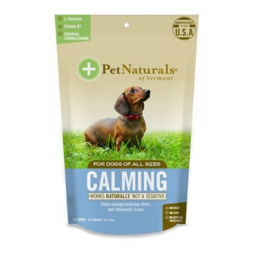 Calming Supplements for Dogs 30 Chews by Pet Naturals of Vermont Works Naturally, Not A SedativeHelps Manage Everyday Stress and Behavioral Issues