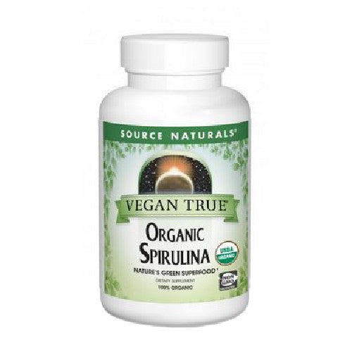Organic Spirulina 100 Tabs by Source Naturals