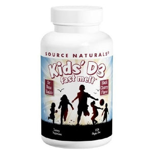 Kids D-3 Fast Melt Black Cherry 200 Tabs by Source Naturals