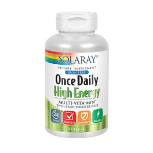 Once Daily High Energy Iron-Free 120 Caps by Solaray