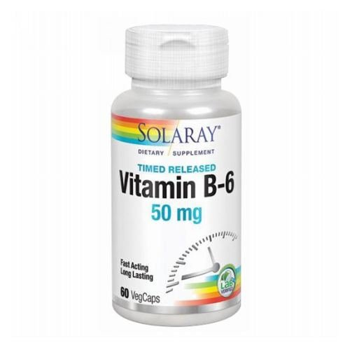 Vitamin B-6 60 Caps by Solaray Vitamin B-6 60 Caps by Solaray