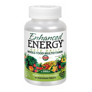 Enhanced Energy Whole Food Multivitamin, 60 Veg Tabs by Kal