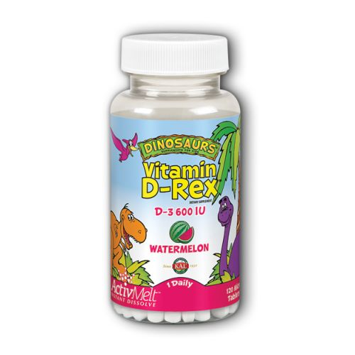 Vitamin D-Rex ActivMelt Watermelon 120 Tabs by Kal Vitamin D-Rex ActivMelt Watermelon 120 Tabs by Kal
