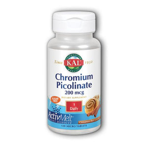 Chromium Picolinate ActivMelt 120 Tabs by Kal