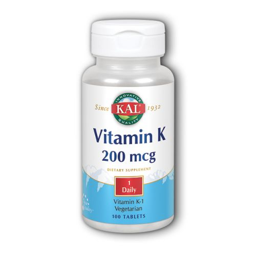 Vitamin K 100 Tabs by Kal Vitamin K 100 Tabs by Kal